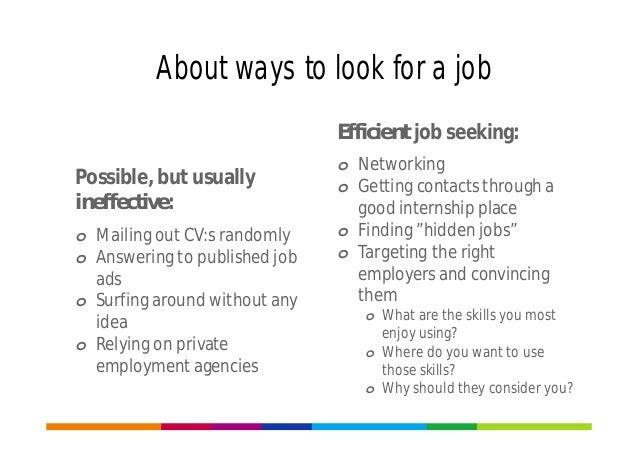 what do jobs look for