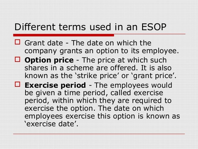 Stock options grant date exercise date
