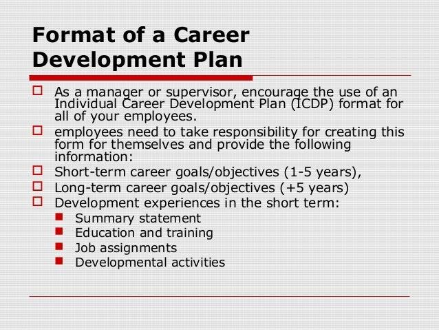 Format Of A CareerDevelopment Plan ...