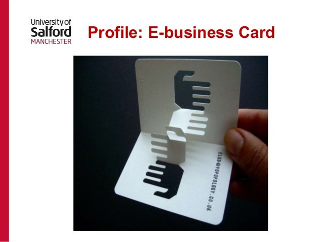 Career planning presentation for computer networks profile e business card reheart Choice Image
