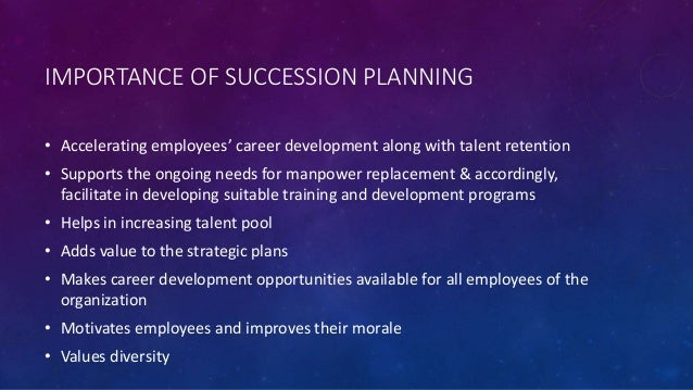 career planning and sucession planning Increasingly enterprises are focusing on succession planning to ensure business continuity and reduce risks associated with talent mobility the challenge for enterprises is to balance the.