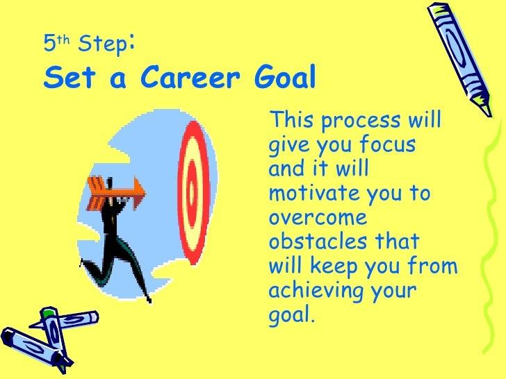 write a career goal