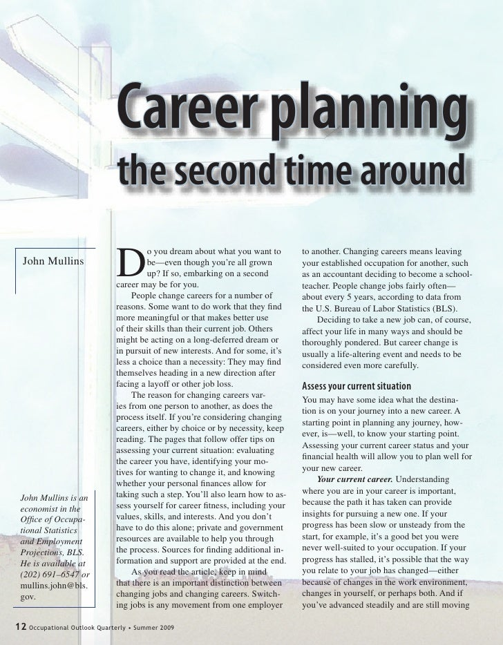 Career planning                               the second time around                               D                      ...
