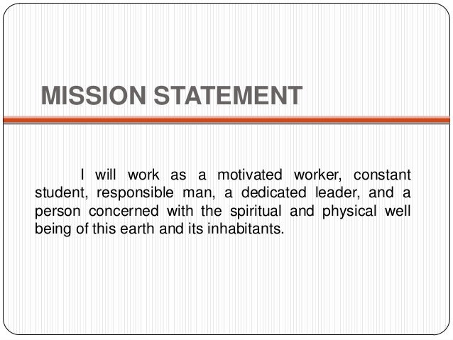 MISSION STATEMENT ...  Mission Statement For Resume