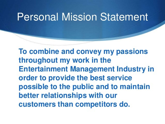 4 personal mission statement
