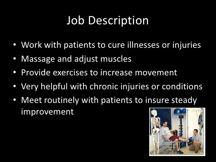 Job Description For A Physical Therapist - Plan