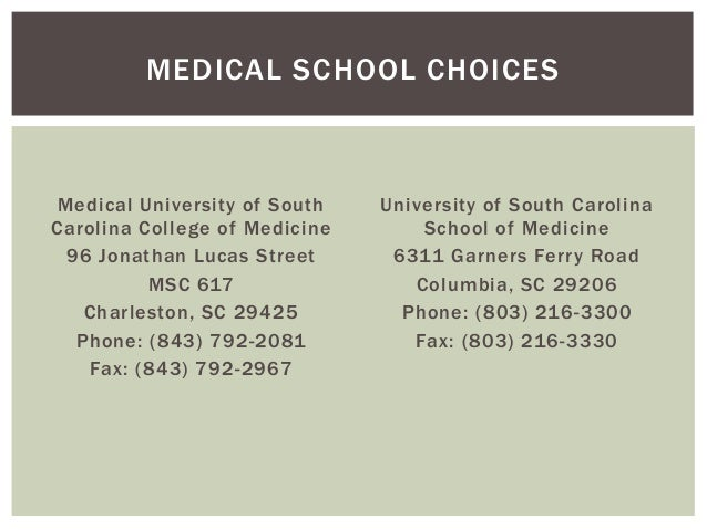 University Of South Carolina School Of Medicine Letters Of Recommendation