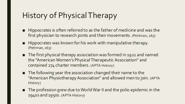 relationship of history and other disciplines in occupational therapy