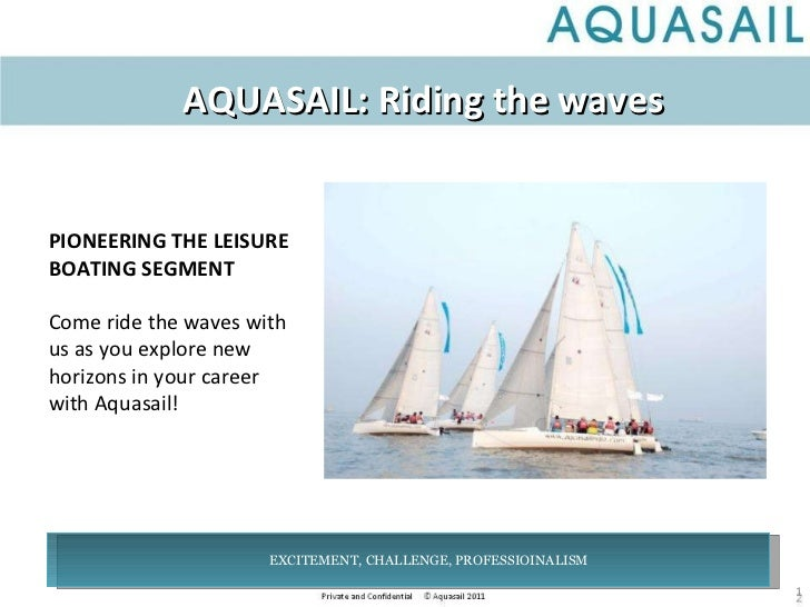 AQUASAIL: Riding the waves PIONEERING THE LEISURE BOATING SEGMENT Come ride the waves with us as you explore new horizons ...