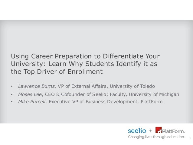 Using Career Preparation to Differentiate Your University: Learn Why Students Identify it as the Top Driver of Enrollment ...