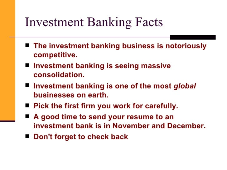 Investment banker fun facts forecast forex market