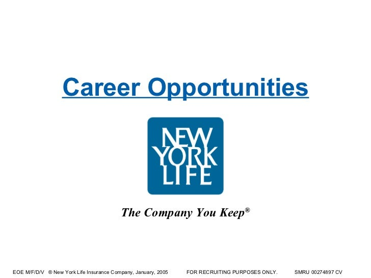 Career Opportunities The Company You Keep®EOE ...  Life Career