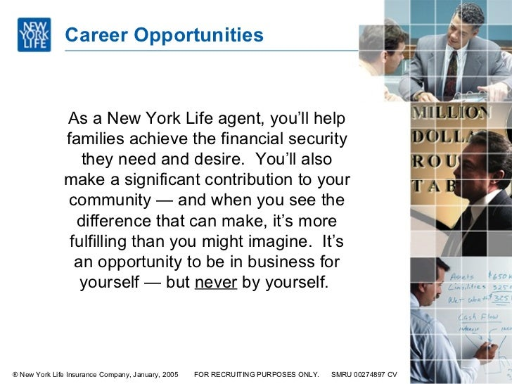 Career Opportunities ...  Life Career