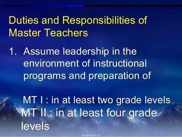 DepED Master Teacher I and II