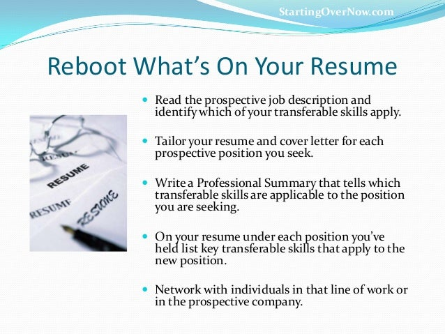 career reboot transferable skills that rock you to results