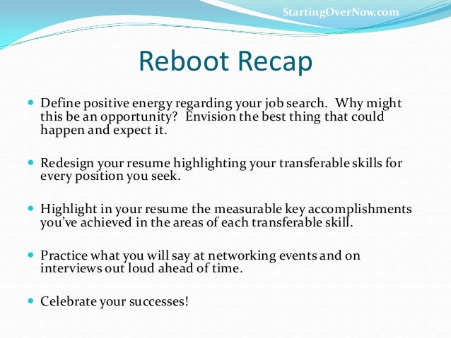 what to say when checking on a career reboot