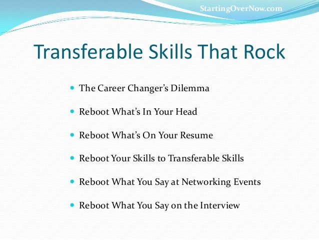 Transferable Skills ...  Transferable Skills Resume