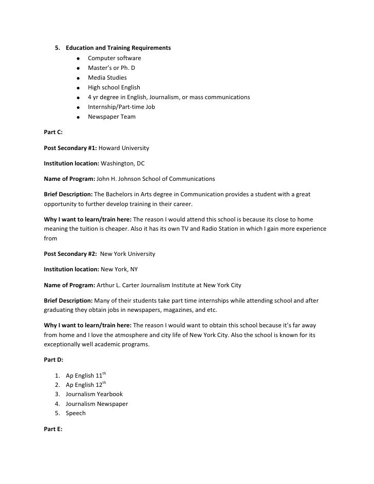 career research assignment