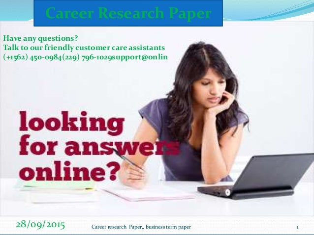 Career research papers
