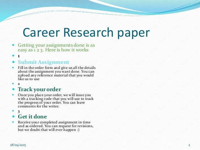 Career Research Paper Research Paper 2 Career