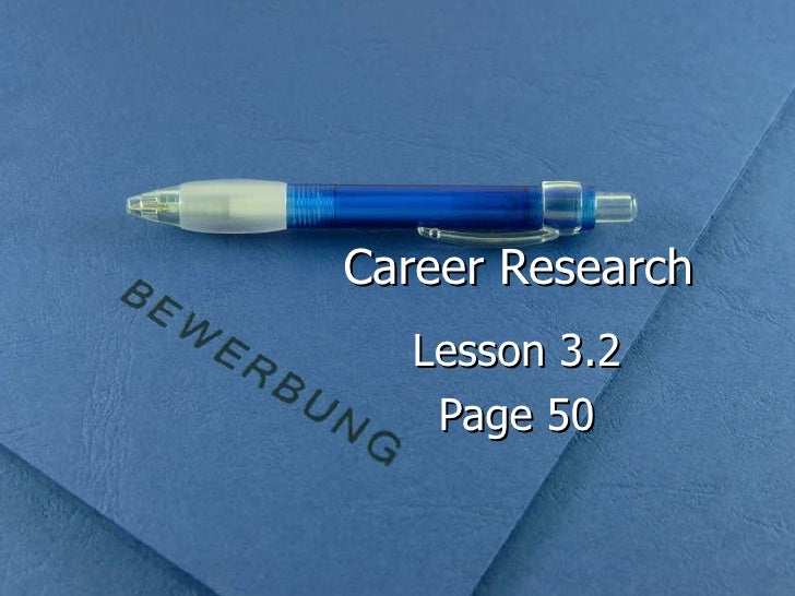Career Research Lesson 3.2 Page 50