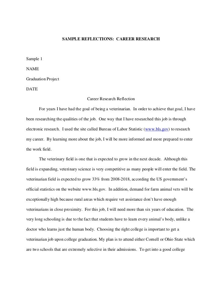 Career research paper thesis statement
