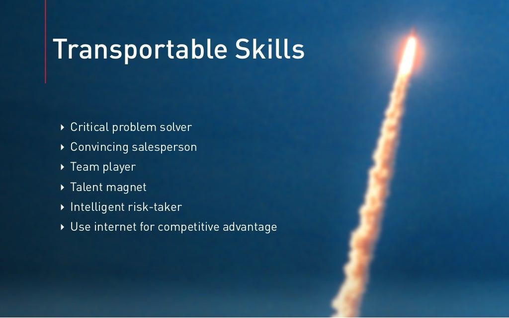 Transportable skills
