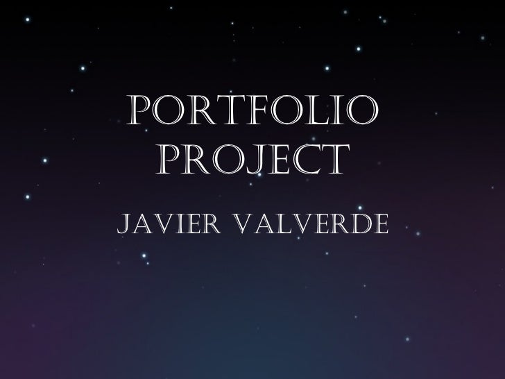 Portfolio Project Javier Valverde