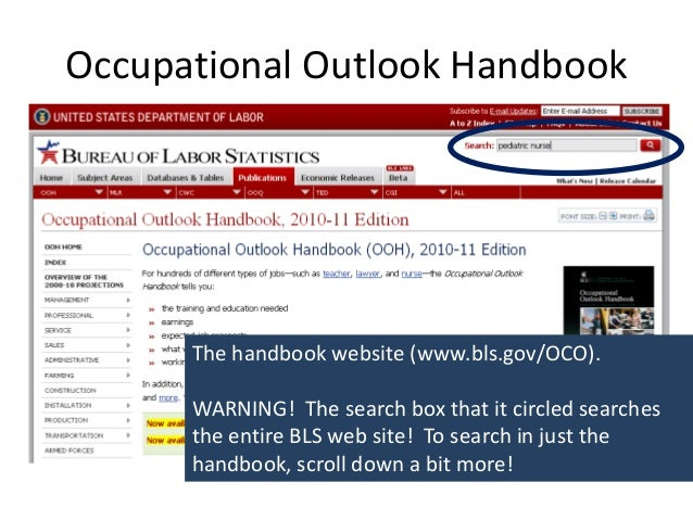 occupational outlook handbook essay Free research essays on topics related to: occupational outlook handbook, estate agents, labor statistics, real estate agent, united states department hardware and software occupational outlook 1,620 words.