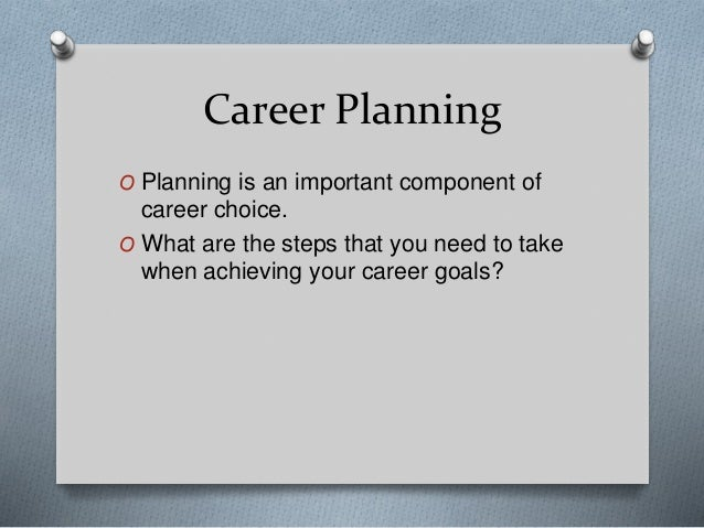 the important choice of a career or profession Your career is likely one of the most important aspects of your life  yourself to be an expert networking professional or someone who is still.