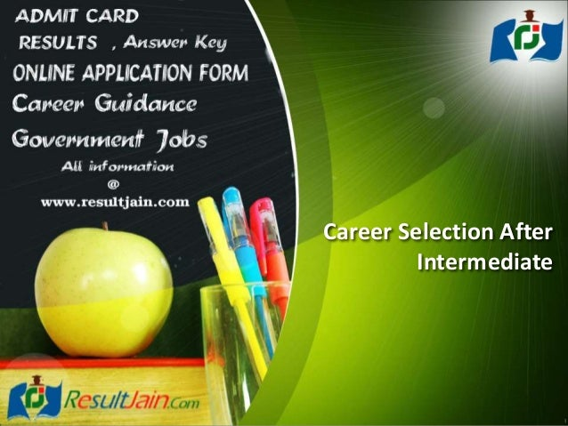 Career Selection After Intermediate