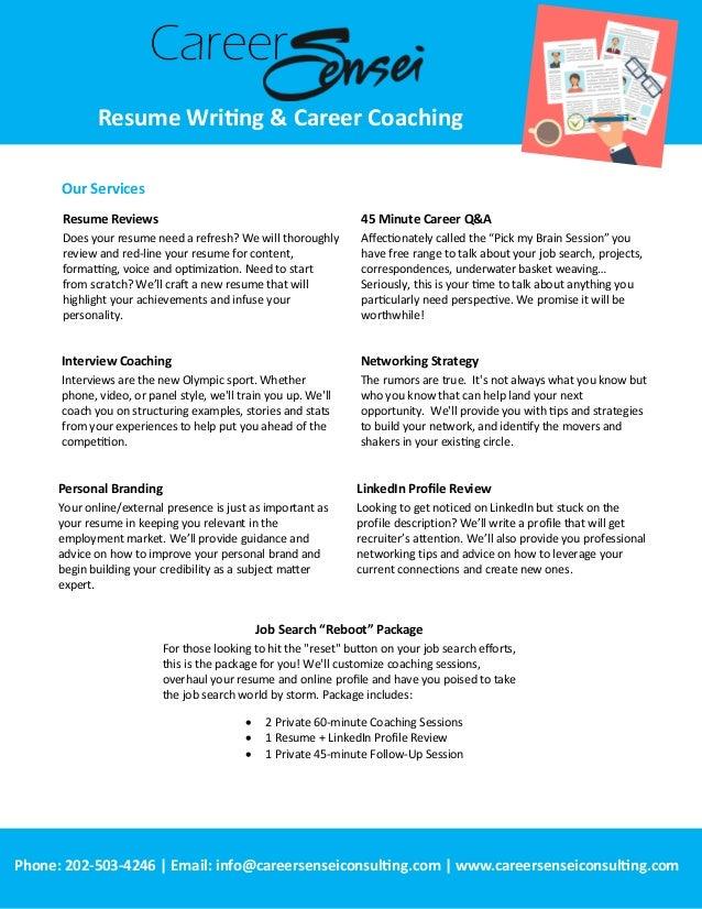 ... Career Coaching; 2.
