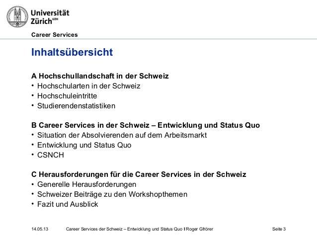 Career Services in der Schweiz Slide 3