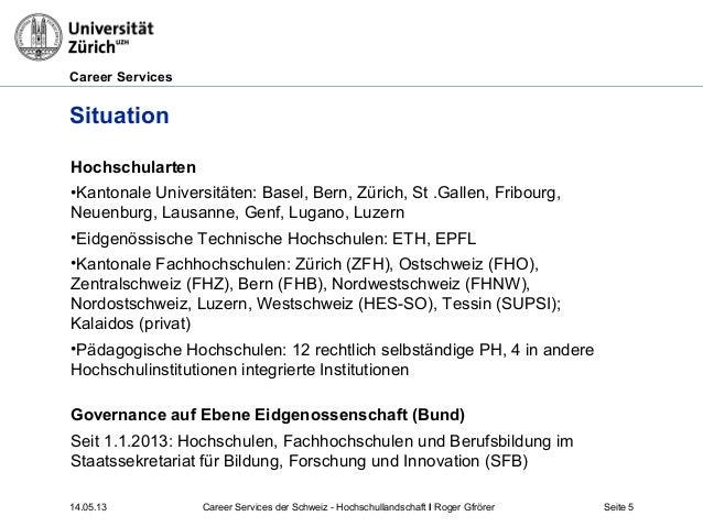 Career Services14.05.13 Career Services der Schweiz - Hochschullandschaft I Roger Gfrörer Seite 5SituationHochschularten•K...