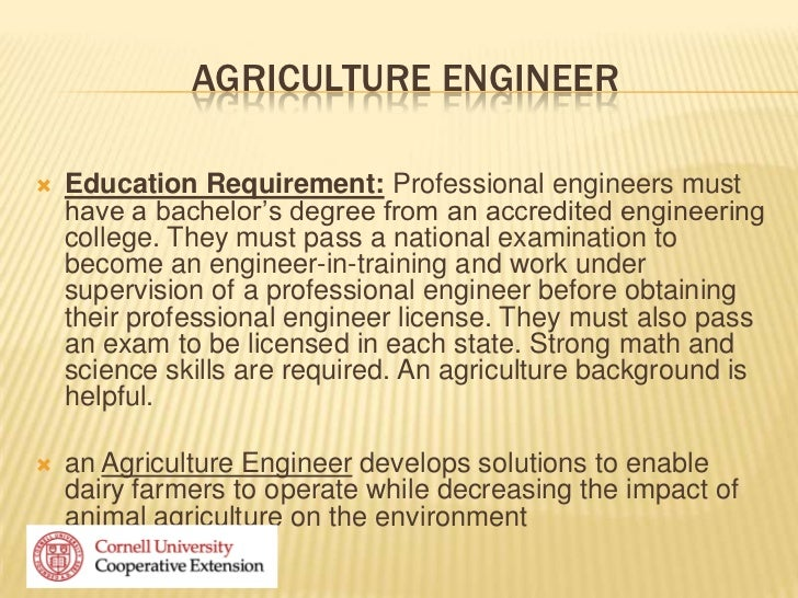 Careers in ag for I need an engineer