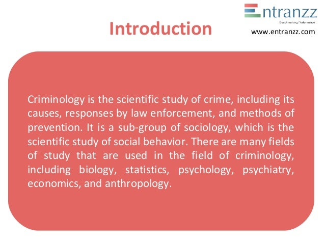 introduction to criminology study guide Student study guide for criminological theories: introduction, evaluation, application, 5th edition by ronald l akers and christine s sellers prepared by eric see, methodist university.