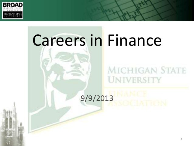Click to edit Master title style 9/12/2013 19/12/2013 Careers in Finance 9/9/2013