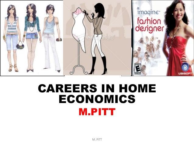 CAREERS IN HOME ECONOMICS M.PITT M. PITT