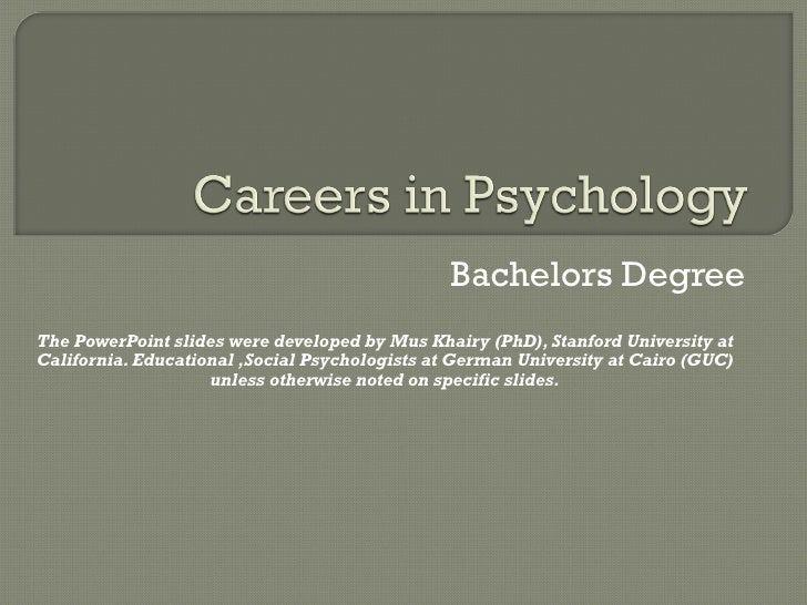 Bachelors Degree The PowerPoint slides were developed by Mus Khairy (PhD), Stanford University at California. Educational ...