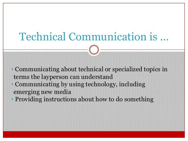 Careers in Technical Communication for English Majors Slide 3