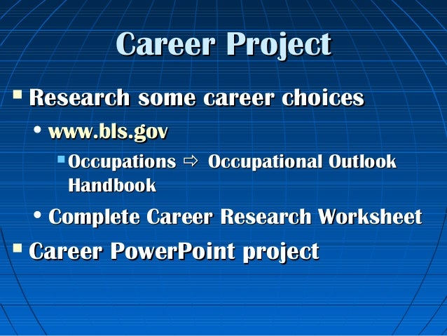 31 Careers presentation – Career Research Worksheet