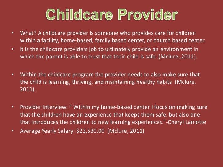 child care provider job description - Passionative.co