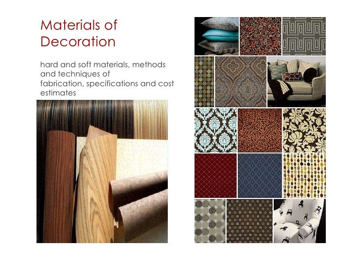Career talk on interior design - Materials of interior design ...