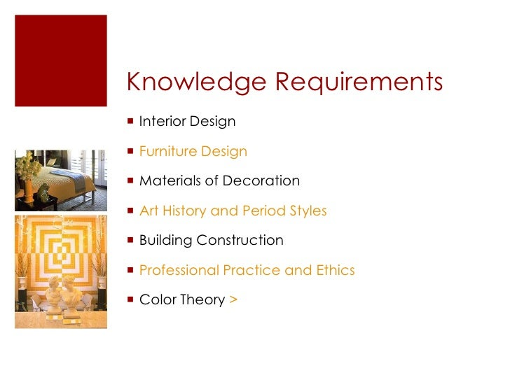 ... Interior Design U003eu003cbr /u003e; 7. Knowledge Requirementsu003cbr ...