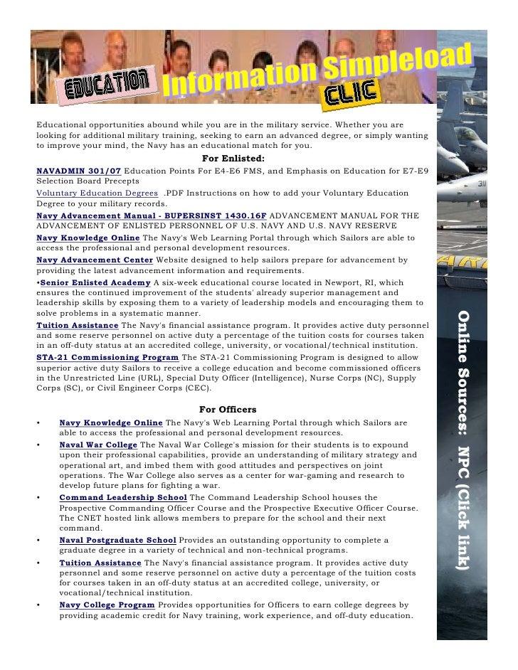 career wise nca edition march 2010 rh slideshare net Navy Leadership Manual BUPERSINST 1430.16 Advancement Manual