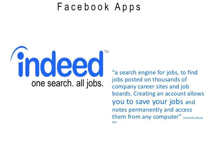 ... Jobs; 3. Facebook Apps U201ca Search Engine ...