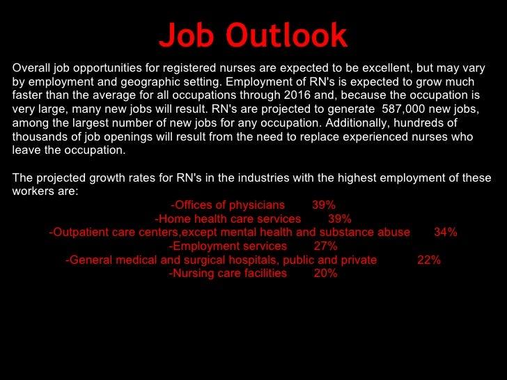 Career Write Up Nursing 2 – Rn Job Outlook