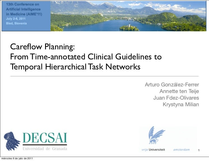 Careflow Planning:       From Time-annotated Clinical Guidelines to       Temporal Hierarchical Task Networks              ...