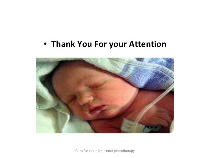 Care for the child uderphototherapy