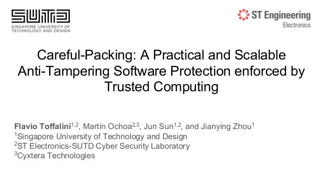 Careful-Packing: A Practical and Scalable Anti-Tampering Software Protection enforced by Trusted Computing Flavio Toffalin...
